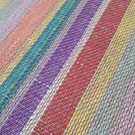 Toile à torchon en Lin à rayures de couleurs