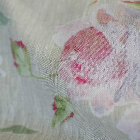 Toile de Lin imprimé de Roses